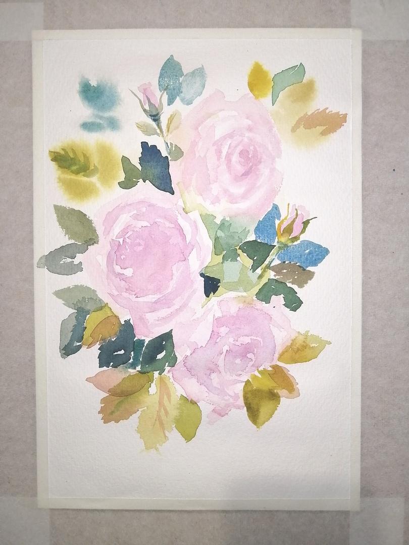 ОНЛАЙН-УРОК по рисованию «Дикая роза», изображение №8
