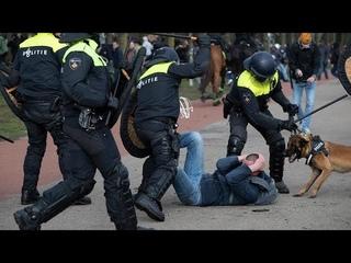 Pays-Bas : manifestations anti-restrictions à la veille des législatives