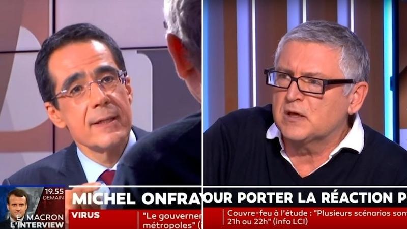 Michel Onfray face à Darius Rochebin sur LCI 13 10 20