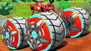 Blaze Power Tires - Blaze & the Monster Machines Transformer Into Falcon - Nickelodeon Kids Games