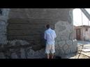 оформление цоколя дома декоративный камень из арт бетона, начало работы. фильм 14