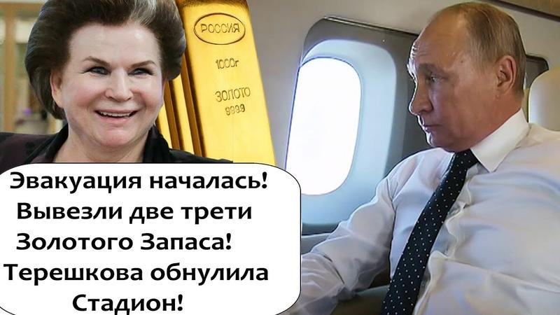 ИЗ РОССИИ УЖЕ ВЫВЕЗЛИ ДВЕ ТРЕТИ ЗАПАСОВ ЗОЛОТА! ТЕРЕШКОВА ОБНУЛИЛА ЛЕДОВЫЙ ДВОРЕЦ!