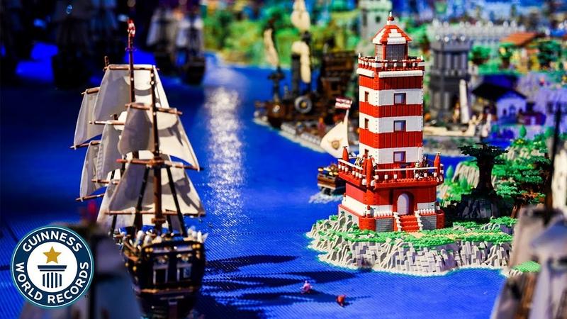 LEGO Мировой рекорд Гинесса Cамая большая постройка из мини блоков