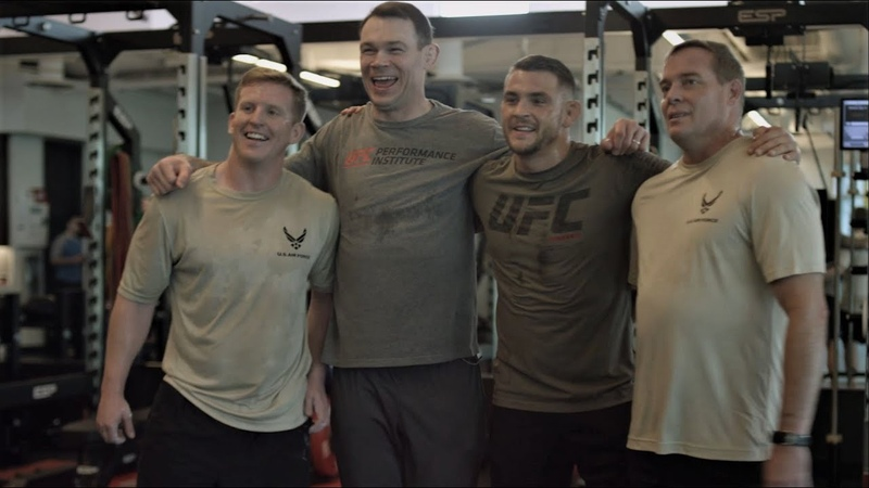 Dustin Poirier Warrior Workout Presented by the U S Air Force