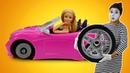 Видео про игрушки и клоуна. Машина Куклы Барби в автомастерской - игры в куклы