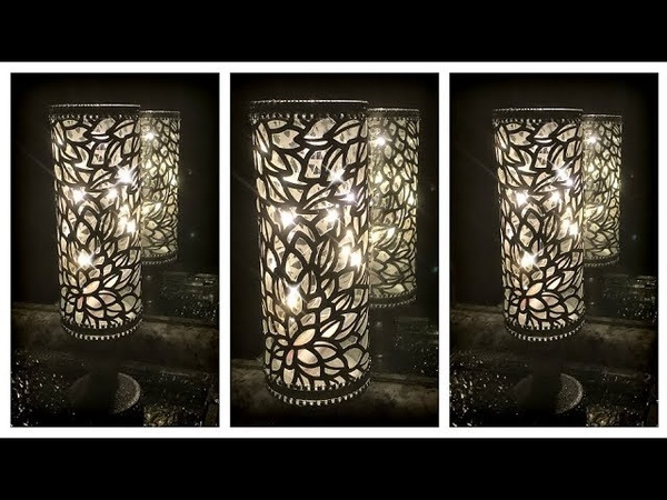 $5 Glam Candle Holder Using Dollar Tree Vase and Candle Holder | Bling Wrap Winners Announced