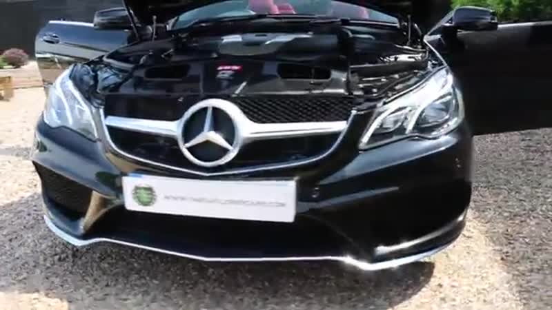 Mercedes Benz E350 CDI Bluetec AMG Line Premium Cabriolet Automatic in Obsidian