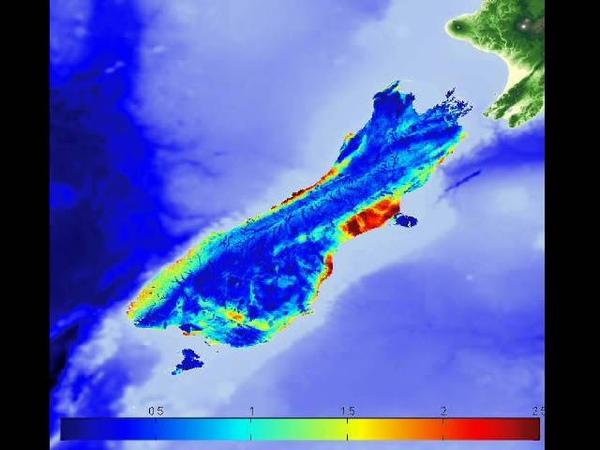 Anisotropy New Zealand South Island