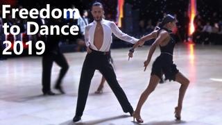 Alexander Chernositov and Arina Grishanina (USA) - Freedom to Dance 2019 - Amateur Latin   Final Cha