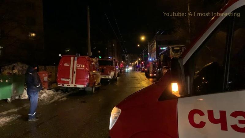 Крупный пожар на ул Черкасская в Краснодаре есть пострадавшие