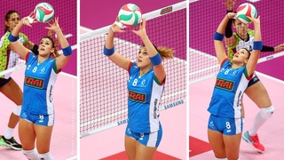 Alessia Orro - Amazing Volleyball setter from Italy | Best Volleyball Actions by Setter 2019