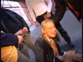 Publick german gang bang porno sex compilation whore  порно секс изнасилование толпой отимели пустили по кругу выебали шлюшка
