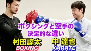 ボクシングと空手の決定的な違いが分かった!【中達也と村田諒太】Boxing and Karate, Decisive difference ,Tatsuya Naka and Ryota Murata
