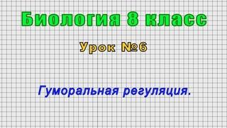 Биология 8 класс (Урок№6 - Гуморальная регуляция.)