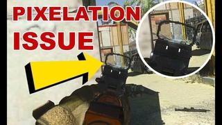 Pixelated Red Dot & Iron Sight Issue - Call of Duty Modern Warfare