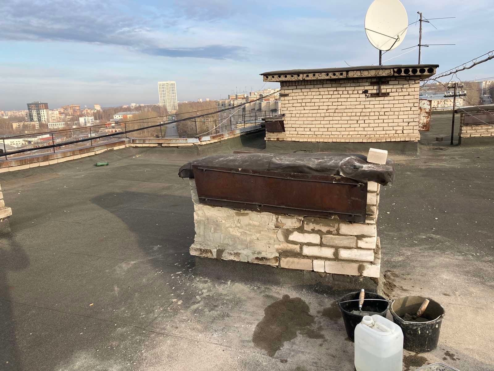 Улица Кольцова дом 22 ремонт оголовков вентканалов