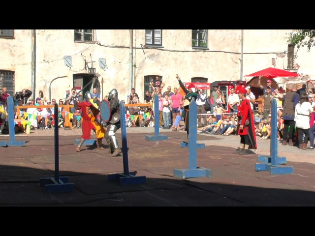 Knight tournament duel Vyborg castle Рыцарский замок 2013