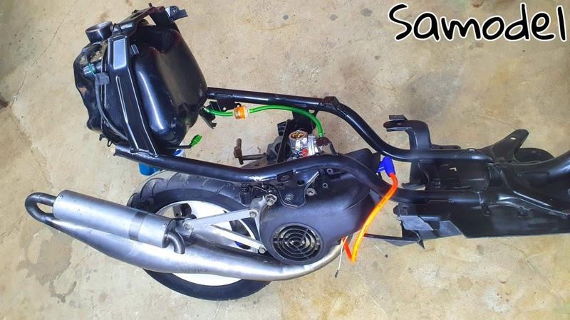 16 Yamaha Jog установка зажигания от бензопилы