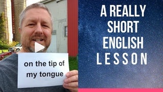 Meaning of ON THE TIP OF MY TONGUE - A Really Short English Lesson with Subtitles