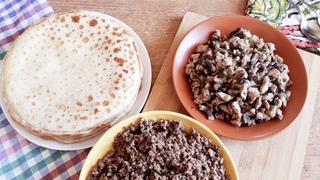 2 варианта вкуснейших начинок для блинов: простые и быстрые рецепты