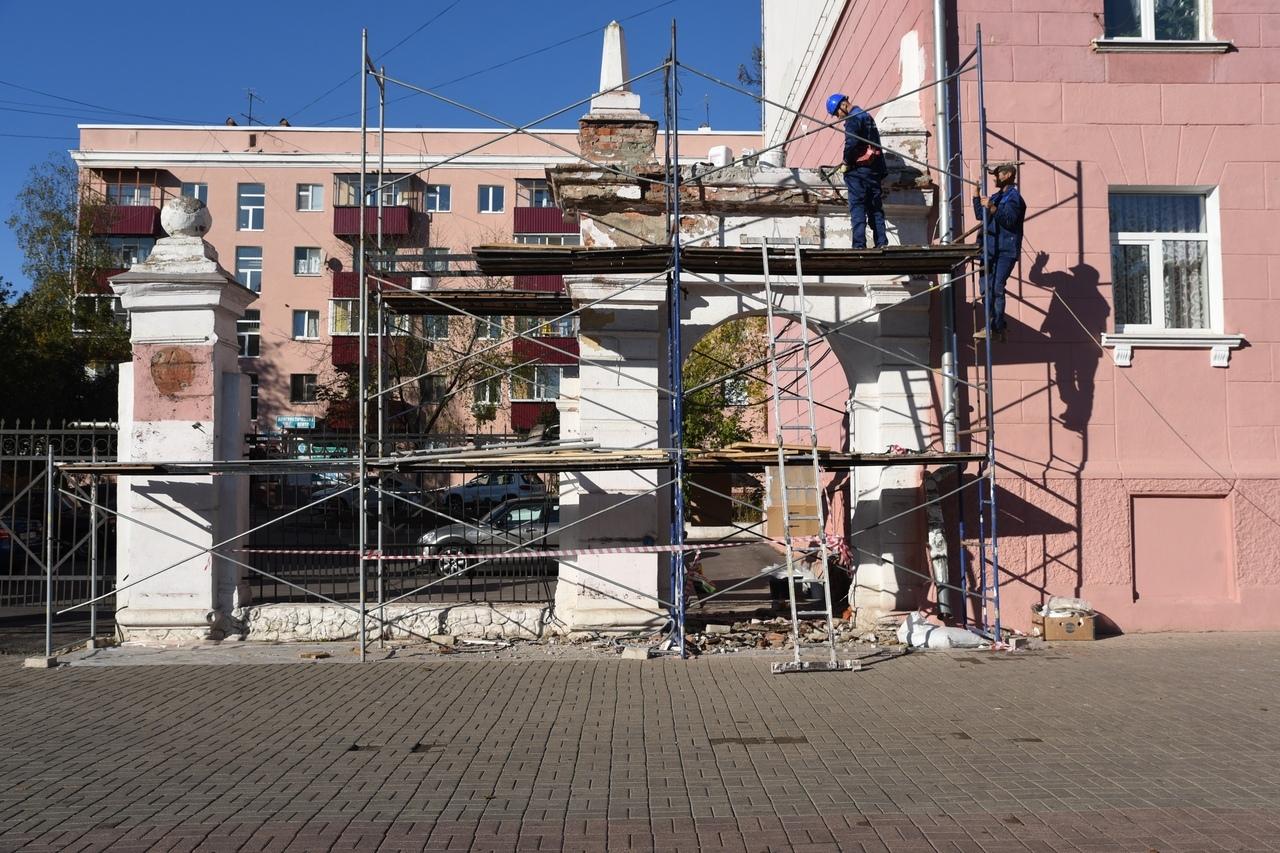 В центре Курска реставрируют объект культурного наследия