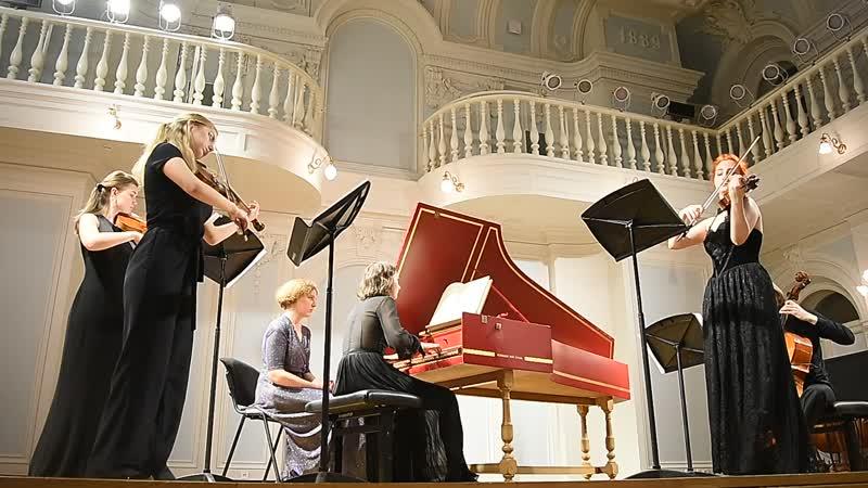 Бах Концерт для клавесина и струнных ре минор в 3 ч 1 Исп М Зайчикова А Гвоздарева Д Захарова К Панкина и А Изгагин