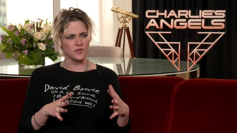 Kristen Stewart, Charlies Angels, pick-up lines, not getting hit on, shoes, kicking ass