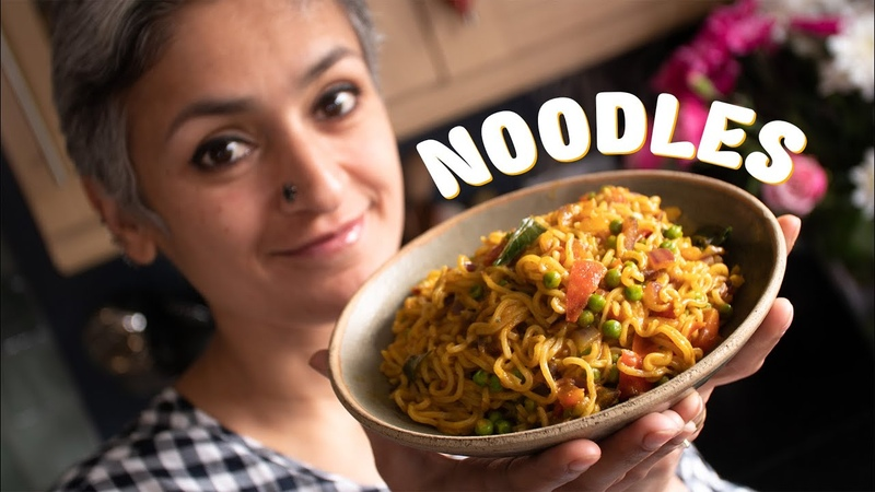 Masala noodles Spicy veg noodles Food with Chetna