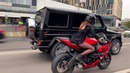 валим с геликом мототаня девушка на мотоцикле