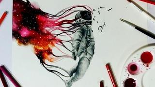 Speed drawing - Space Possession 【Aquarela /Watercolor Speedpaint】