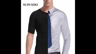 Мужская компрессионная футболка для похудения, формирователь осанки, мужской жилет для живота футболки мужские abdo, мужской