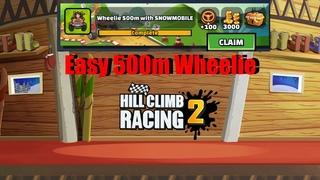 Hill Climb Racing 2 - How To Do Easy Wheelie 500m (Task)
