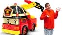 Робокар Поли и его друзья машины помощники спешат в горы! Видео игры про игрушки для мальчиков