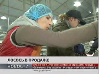 Свежая красная рыба появилась на прилавках Хабаровска. Новости. 10/07/2018. GuberniaTV