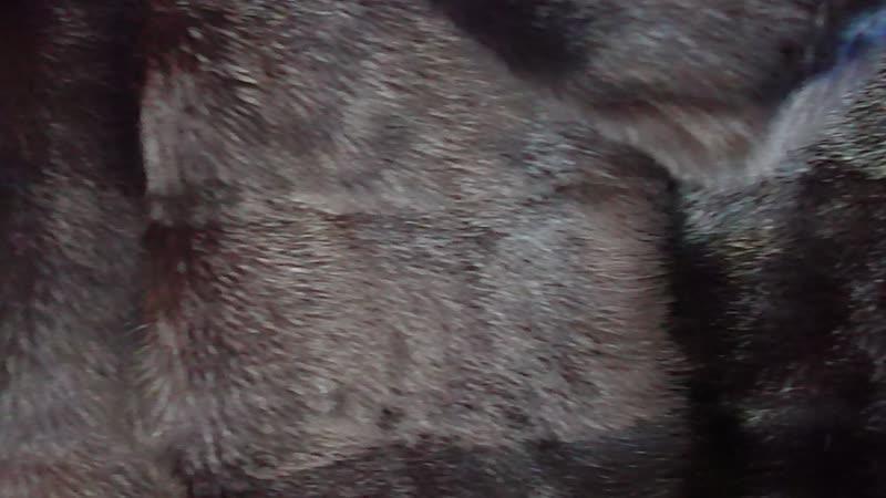 Шубка норковая поперечка цельная