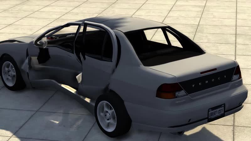 BeamNG Mod Crash Testing Bravado Feroci GTA IV Beta