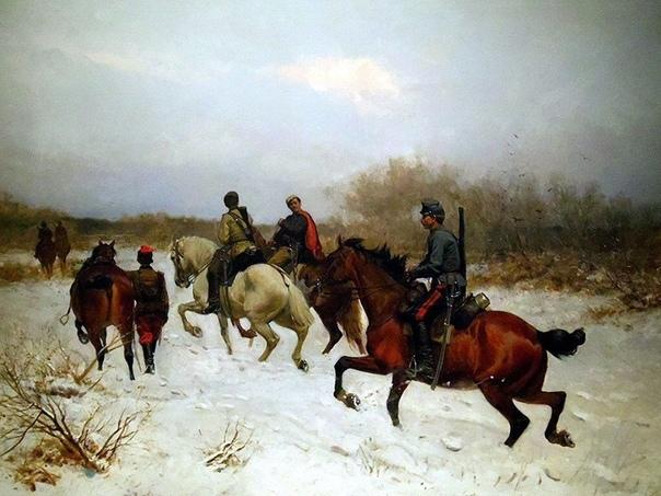 Картина: «Патруль польских партизан 1863» (1924).