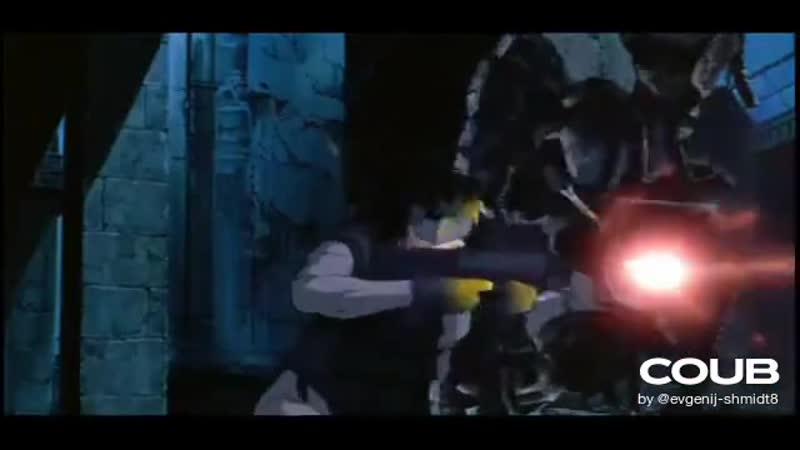 Призрак в доспехах Ghost in the Shell фрагмент Битва с танком