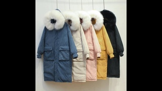 2021 модная женская зимняя куртка негабаритная с меховым капюшоном женская зимняя парка длинная теплая утепленная два больших