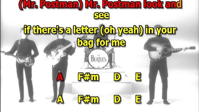 Please Mr Postman Beatles best karaoke instrumental lyrics chords cover
