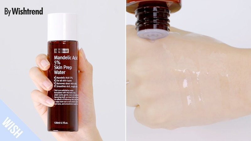 Mild Daily AHA Toner That Corrects Texture Acne Scars in Days BY WISHTREND Mandelic Acid 5% Skin