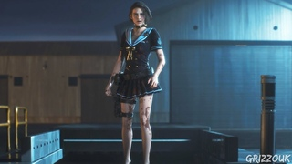 Resident Evil 3 Remake Jill Valentine Sexy Navy Star Outfit PC Mod
