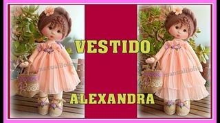 TUTORIAL VESTIDO muñeca ALEXANDRA video - 469