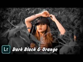 Tutorial Edit Foto Dark Black & Orange Lightroom CC Android