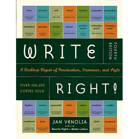 Write Right A Desktop Digest of Punctuation, Grammar and Style