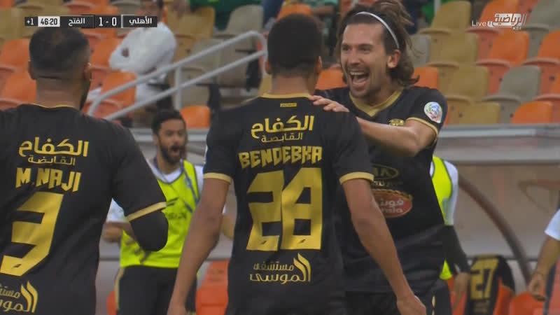 أهداف مباراة الأهلي 0 × 1 الفتح الدوري السعودي
