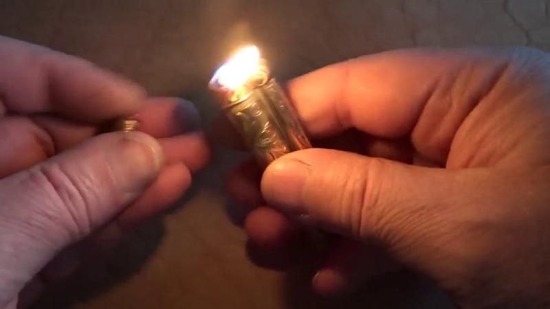 Зажигалка из ружейной гильзы 32 кал
