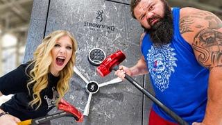 World's Strongest Man vs $10,000 Safe! *unbreakable*