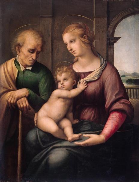 Рафаэль. Святое семейство (Мадонна с безбородым Иосифом). 1506–1507 гг.