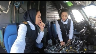 All Female Airline Pilot Crew For The First Time In Iran's Aviation Industry (English Sub)زنان خلبان